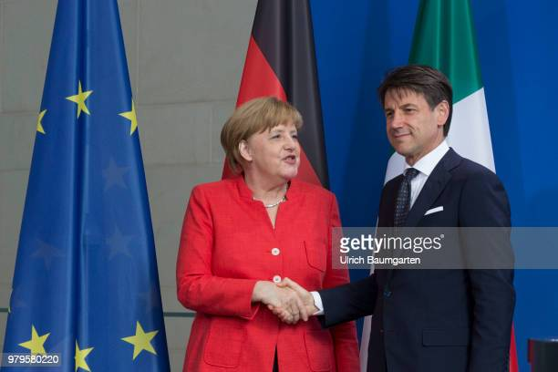 The Italian Prtime Minister Giuseppe Conte for talks with Federal Chancellor Angela Merkel in Berlin Angela Merkel and Giuseppe Conte according to...