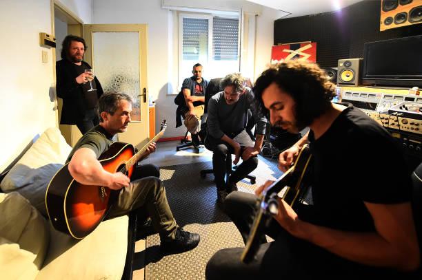 ITA: Italian Author And Musician Pierpaolo Capovilla At Recording Studio