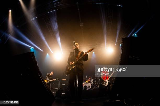 The italian rock singer and song writer Enrico Ruggeri performing live at Fabrique In Milan Italy on 11 May 2019