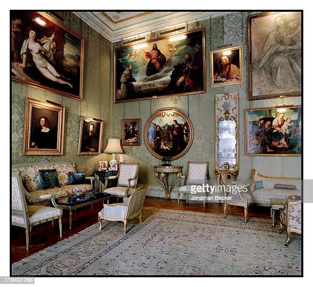 The Italian room of the Palacio de Liria is photographed for Vogue Espana on March 15-17, 2010 in Madrid, Spain. Published image.