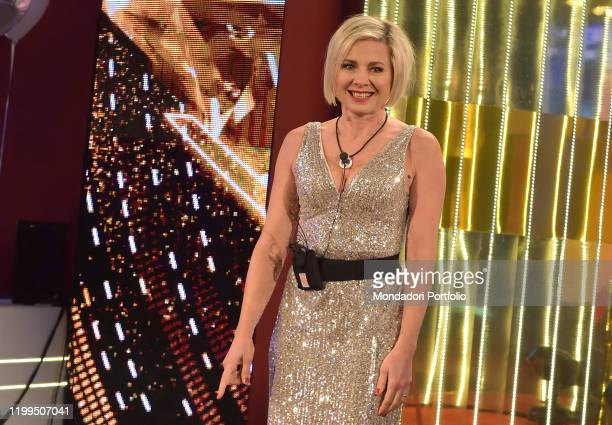 The italian showgirl Antonella Elia during the first episode of the transmission Big brother vip 4 at the Cinecittà studios Rome January 8th 2020