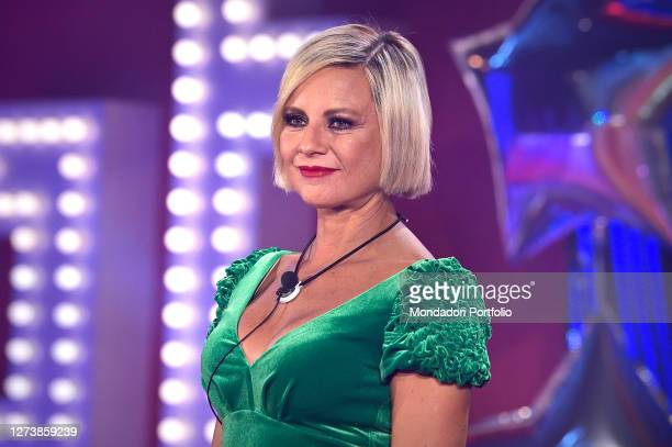 The Italian showgirl Antonella Elia during the first episode of the Big Brother Vip 5 broadcast in the cinecittà studios. Rome ,September 14th,2020