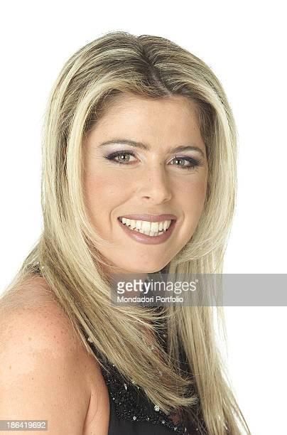 The italian showgirl Loredana Lecciso smiles February 22 2002
