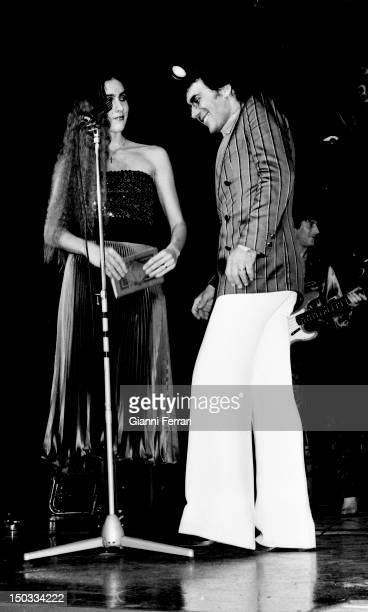 The Italian singer Al Bano and the American singer Romina Power during a concert in Madrid Madrid Spain