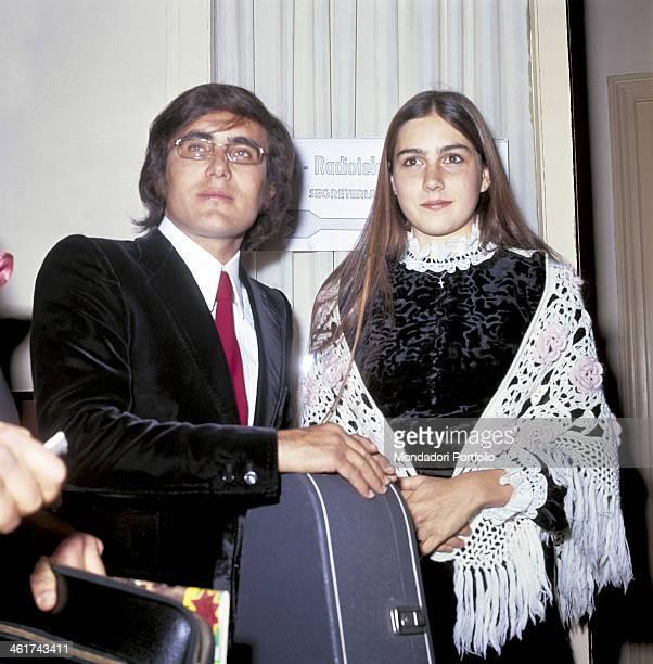 The italian singer Al Bano born Albano Carrisi with his girlfriend the american singer Romina Power 1968
