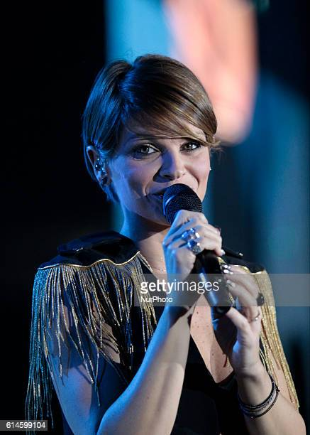 The Italian singer Alessandra Amoroso during his new tour Vivere a Colori Tour 2016 at Pala Alpitour of Turin in october 13 2016