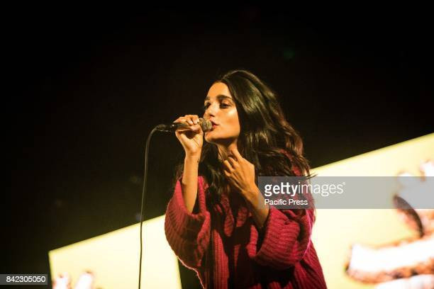 The Italian singer and songwriter Claudia Lagona also known as Levante pictured on stage as she performs live at Carroponte Milan Italy