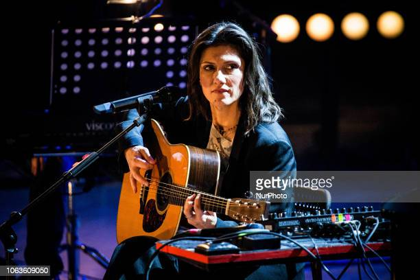 The italian singer and songwriter Elisa performing live during the opening night of Milan Music Week 2018 at Teatro Dal Verme in Milan Italy on 19...