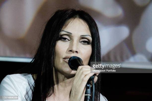 The Italian singer Anna Oxa in concert with the show The big hits on tour at the Soncino River Club to celebrate her over thirty years of...