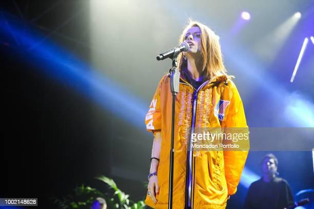 The italian singer Annalisa in concert at the Atlantico Rome May 2018