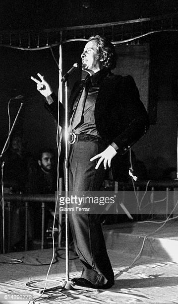 The Italian singer Domenico Modugno Madrid Spain