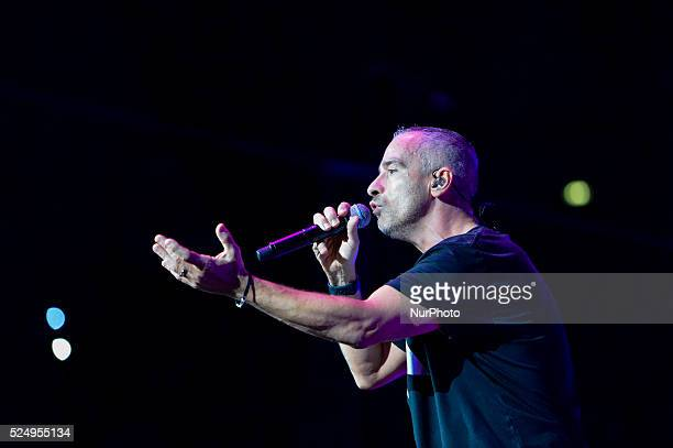 The italian singer Eros Ramazzotti performs at the Palalottomatica in Rome on Italy 14th October 2015