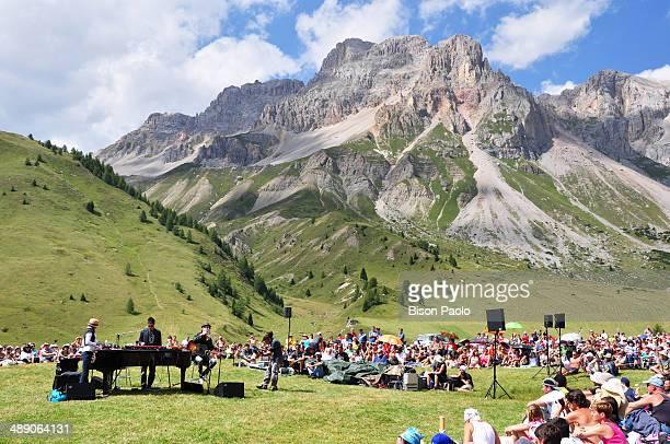 CONTENT] The Italian singer FRANCESCO in concert on at Fuciade for the event I SUONI DELLE DOLOMITI in a hot day of August near Moena Val di Fassa...