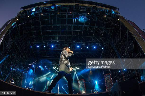The Italian singer Francesco Renga live in concert Real Time Extra Tour Mercati Generali Estath Market Sound Milan 10th July 2015