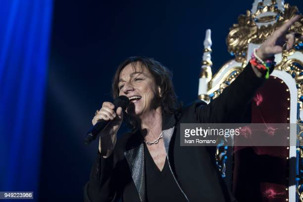 The italian singer Gianna Nannini performs on stage of Palasele for her 'Fenomenale' Tour on April 19 2018 in Eboli Italy