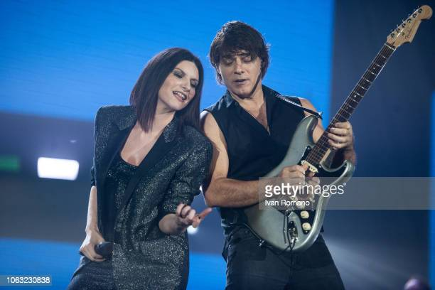 The italian singer Laura Pausini performs for her 'Fatti Sentire Worldwide Tour' at Palasele of Eboli on September 25 2018 in Eboli Italy Laura...
