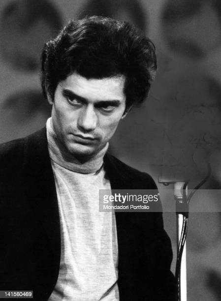 The Italian singer Luigi Tenco singing at Sanremo festival Sanremo January 1967