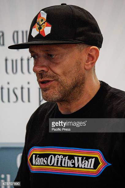 The Italian singer Max Pezzali former leader of the group 883 signed copies of his latest album 'Spaceship Max' to Mondadori Bookshop His clothing...
