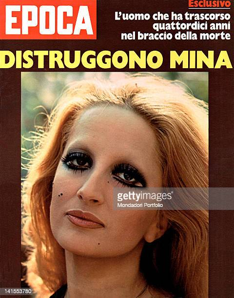 The Italian singer Mina on the weekly magazine Epoca cover 9th July 1972
