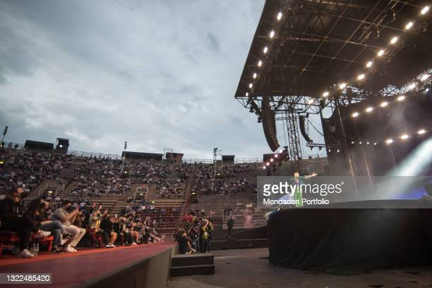 The Italian singer-songwriter Emma Marrone performs in the Arena di Verona for her Fortuna live tour 2021. Verona . June 7th, 2021