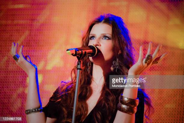 The Italian singersongwriter Irene Fornaciari participates in the television program Scalo 76 of Rai Milan March 26th 2009
