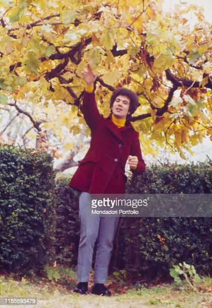 The Italian singersongwriter Lucio Battisti in his native country Poggio Bustone January 1969