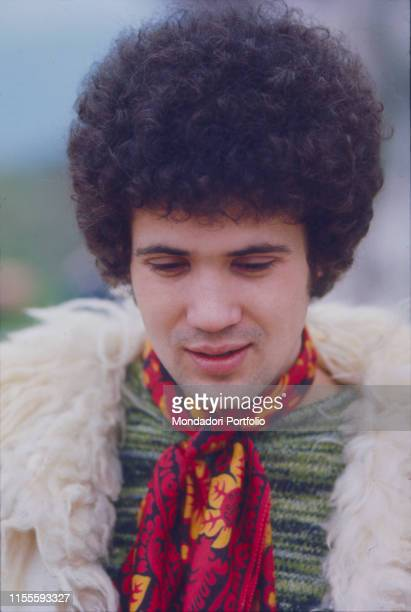 The italian singersongwriter Lucio Battisti on the outside during the Sanremo Italian Song Festival January 31st 1969