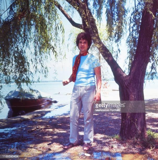 The Italian singersongwriter Lucio Battisti Summer 1969