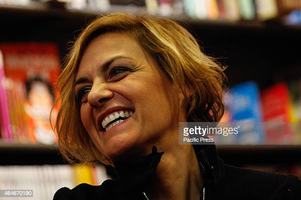 The Italian songwriter Irene Grandi introduces her latest album titled Un vento senza nome at Mondadori Bookshop were she just back from the last...