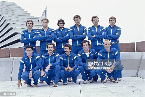 The Italian team of water polo at the Moscow olympic games Moscow Russian Federation 1980