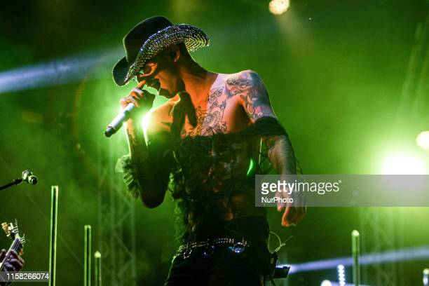 The italian trapper Achille Lauro performing live at GruVillage Festival 2019 in Grugliasco near Turin Italy on 27 July 2019