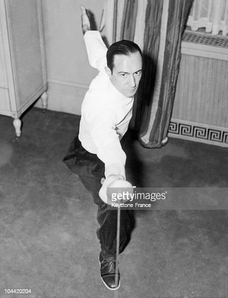 The Italian World Fencing Champion Aldo Nadi Training In New York On November 12 1935