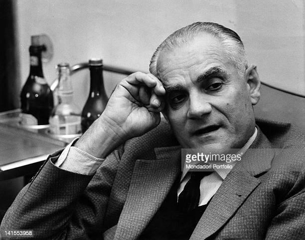 The Italian writer and journalist Alberto Moravia Rome 1960