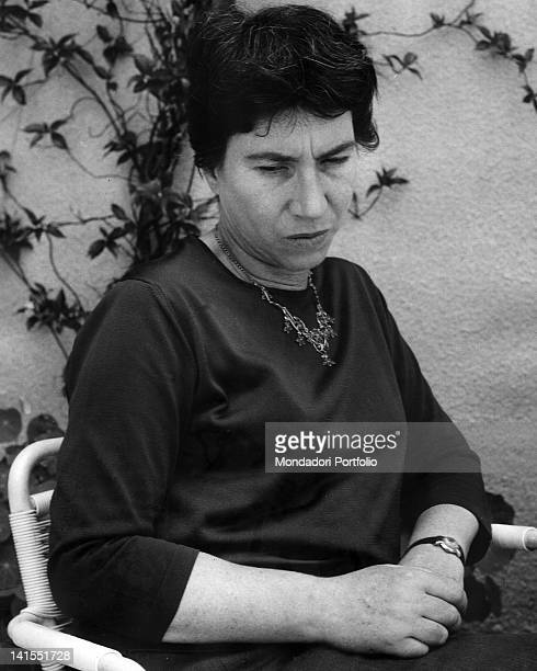 The Italian writer Natalia Ginzburg. 1963
