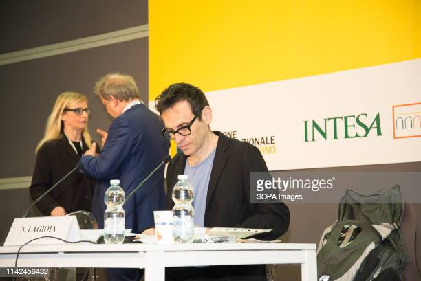 The Italian writer Nicola Lagioia seen during the Book fair The 32nd edition of the Turin International Book Fair