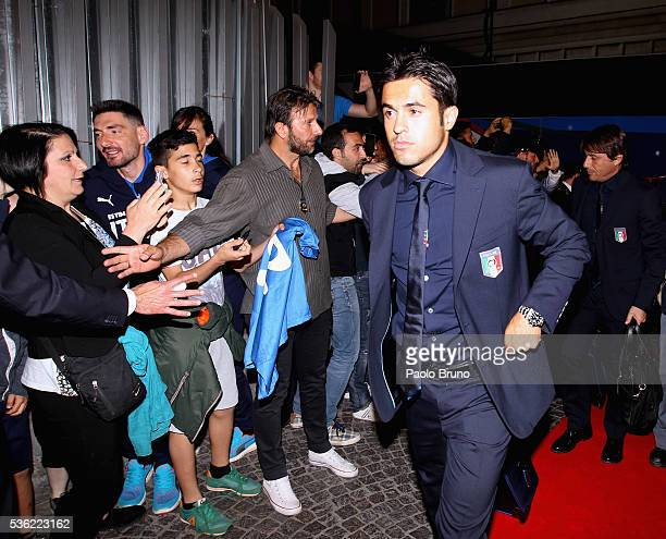 The Italy player Eder departs for Coverciano on the Frecciarossa 1000 train at Stazione Termini on May 31 2016 in Rome Italy