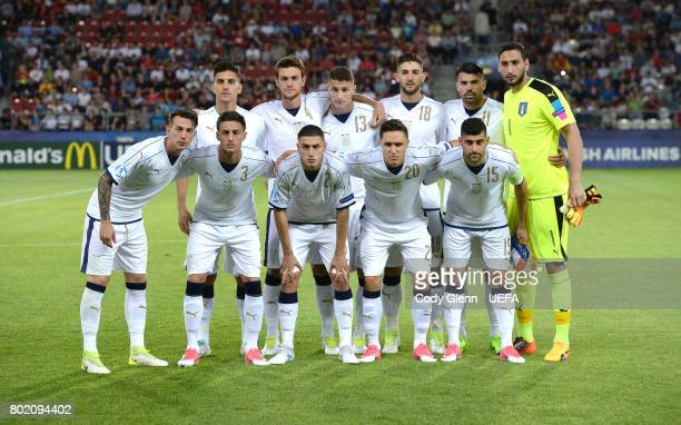 The Italy team before their UEFA European Under21 Championship 2017 semifinal match against Spain on June 27 2017 in Krakow Poland