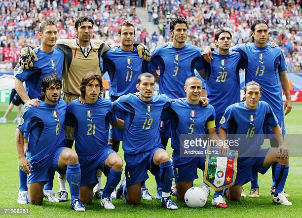 The Italy team line up for a group photo prior to the FIFA World Cup Germany 2006 Group E match between Czech Republic and Italy played at the...