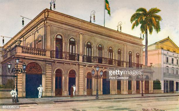 The Itamaraty Palace - the Downing Street of Brazil, 1914. From The Beautiful Rio De Janeiro by Alured Gray Bell. [William Heinemann, London, 1914]....