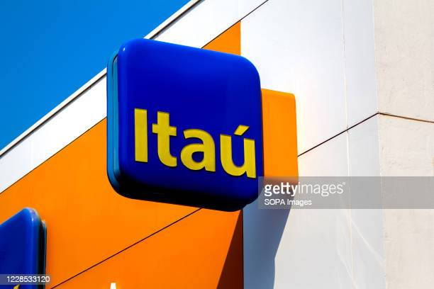 The Itau bank logo seen at one of its bank branches in Dourados, Mato Grosso do Sul.