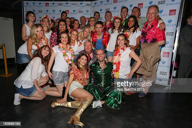 The ITV News crew including Nina Nannar Lucrezia Millarini Lawrence Mcginty and Richard Edgar win the annual Newsroom's Got Talent event to raise...