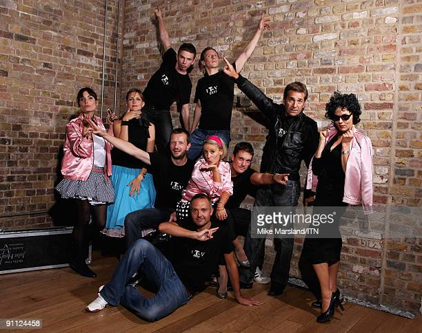 The ITV news team pose ahead of their performance at the Newsroom�s Got Talent event held in aid of Leonard Cheshire Disability and Helen Douglas...
