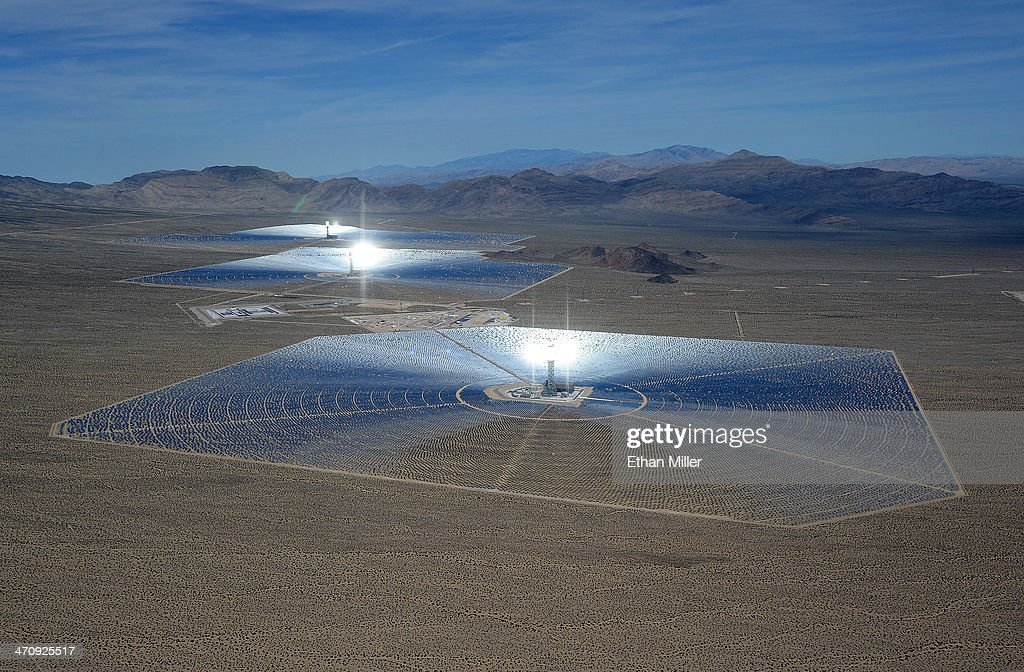 Massive Solar Electricity Plant Provides Power To California Homes : News Photo
