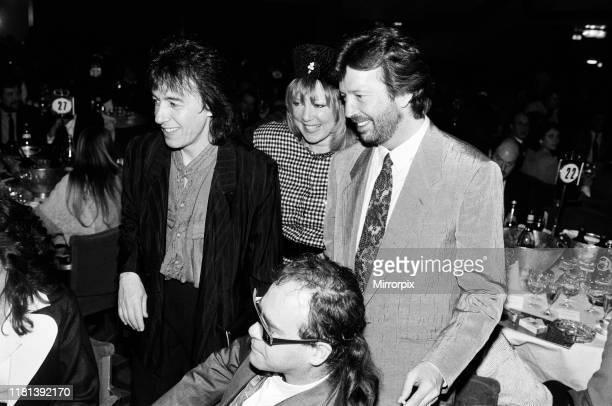 The Ivor Novello Awards at Gorsvenor House London pictured Bill Wyman Pattie Boyd Eric Clapton and Elton John 7th April 1986