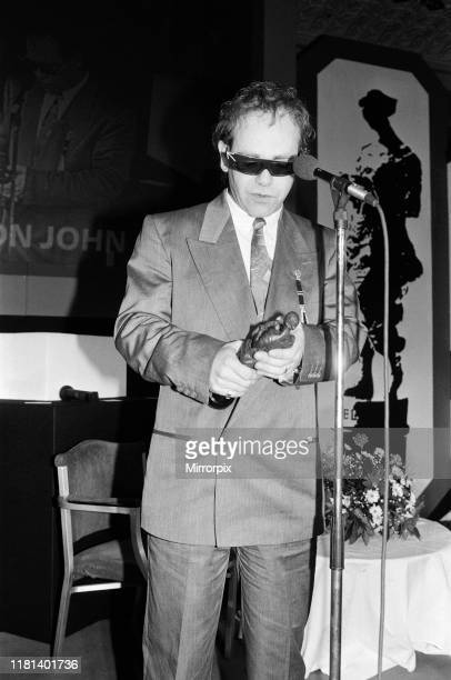 The Ivor Novello Awards at Gorsvenor House London pictured Elton John receiving his award 7th April 1986