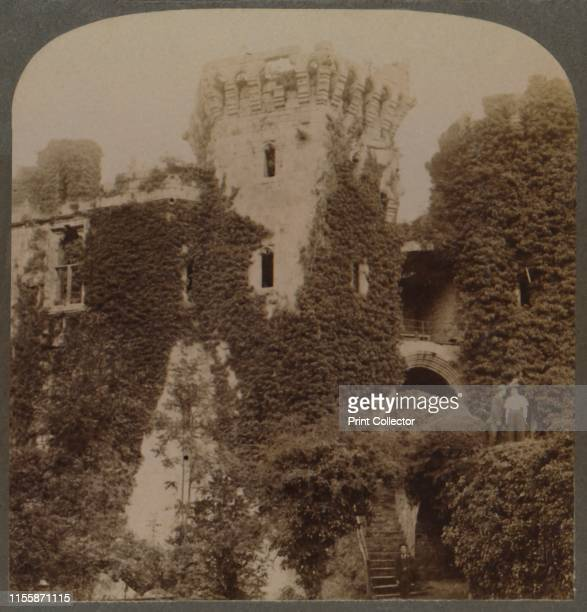 The ivyclad Towers of Raglan Castle the last Stronghold of Charles I Monmouthshire England' circa 1910 From by [Underwood Underwood London ] Artist...