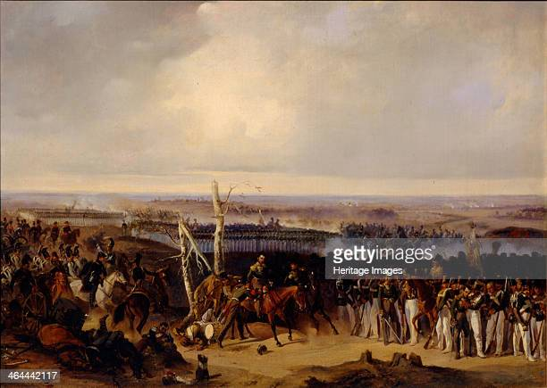 The Izmailovsky Regiment on the Battle of Borodino 1812, 1840s. Found in the collection of the State Borodino War and History Museum, Moscow.