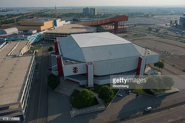 The Izod Center and American Dream Meadowlands stand in this aerial photograph taken above East Rutherford New Jersey US on Wednesday June 10 2015 US...