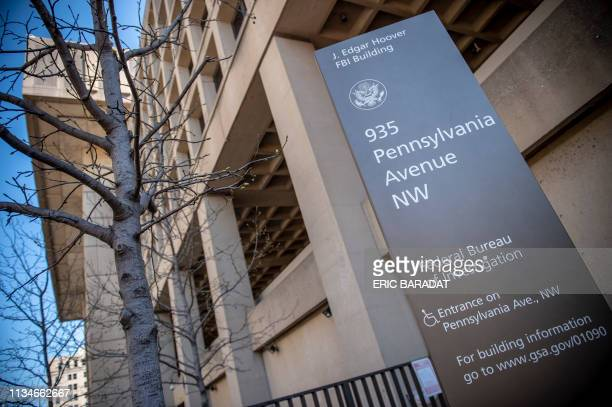 The J Edgar Hoover Building of the Federal Bureau of Investigation is seen on April 03 2019 in Washington DC The FBI is the domestic intelligence and...