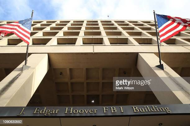 The J. Edgar Hoover FBI Building is seen on January 28, 2019 in Washington, DC. Last Friday President Donald Trump signed a temporary measure to...